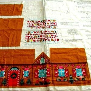 Other - Fabric Panel Christmas Gingerbread House Cut Sew C
